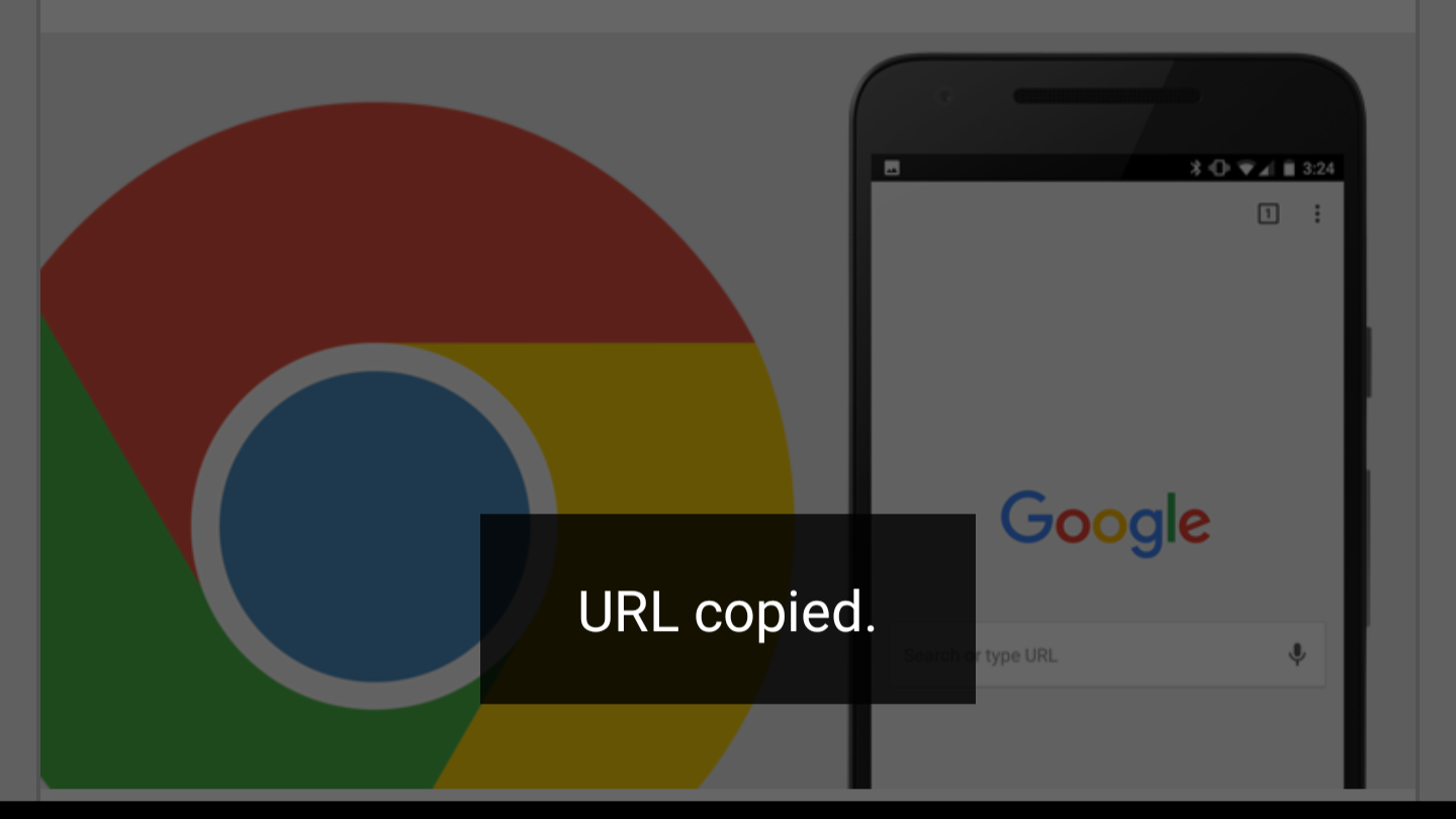 Tips: Various ways to copy URL in Chrome for Android and Chrome