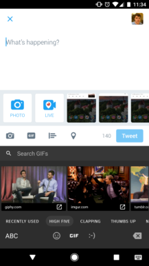 Twitter per Android aggiunge il supporto della tastiera GIF 1