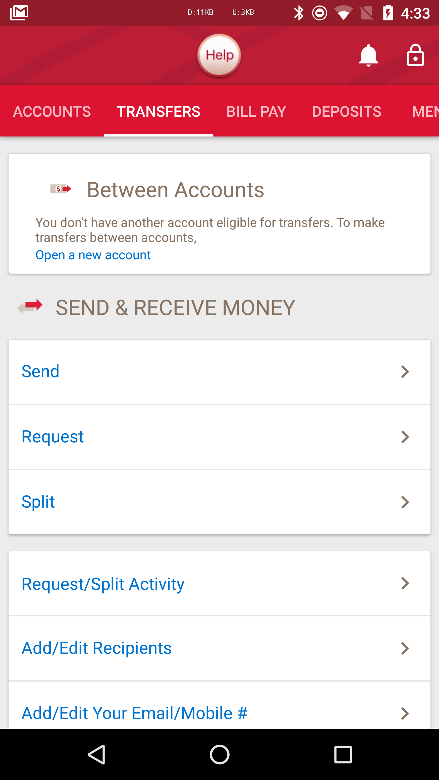 Update Adds Sending Or Receiving Money