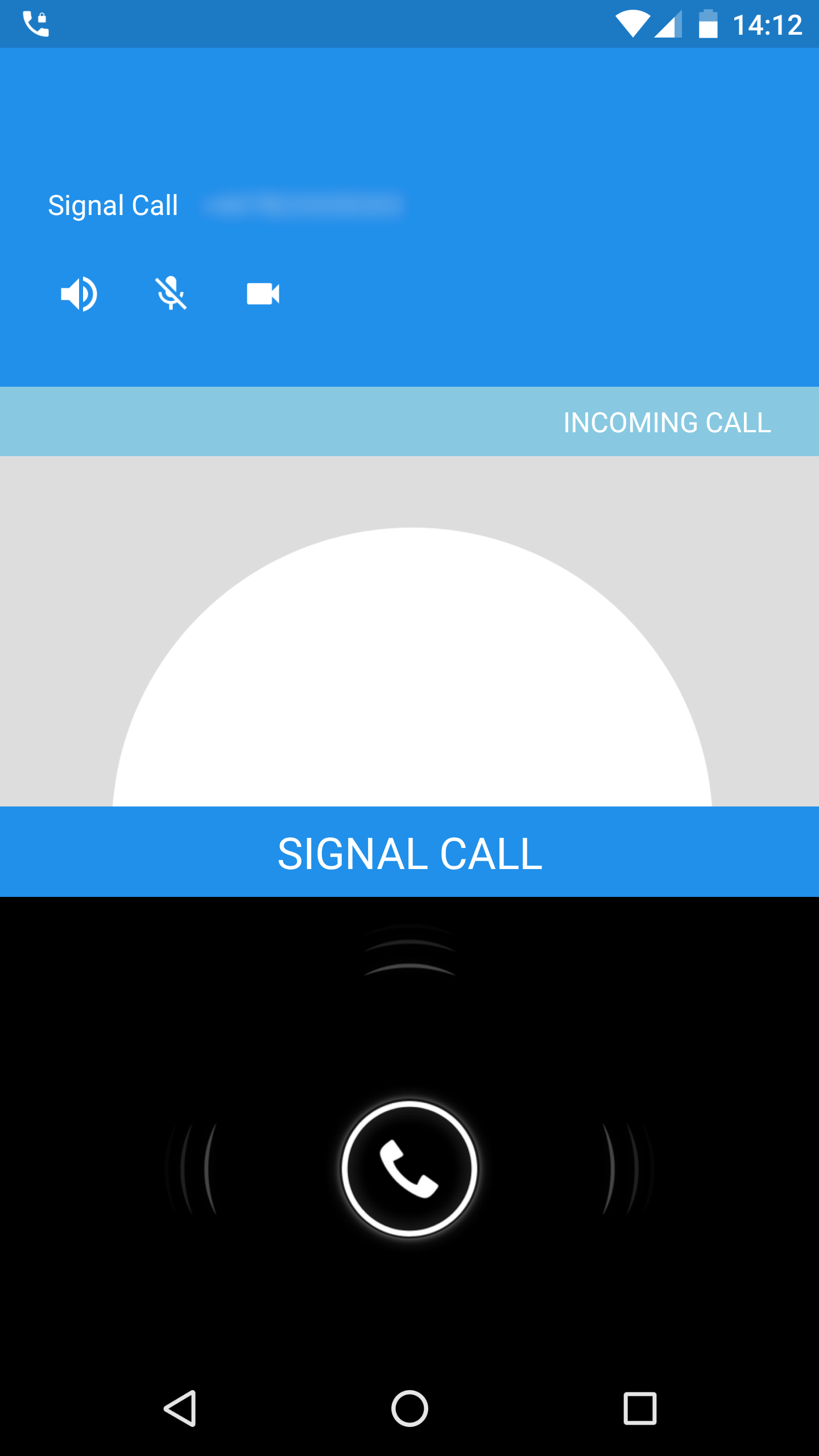encrypted video call app