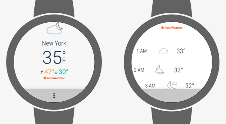 AccuWeather releases standalone Android Wear 2 0 app