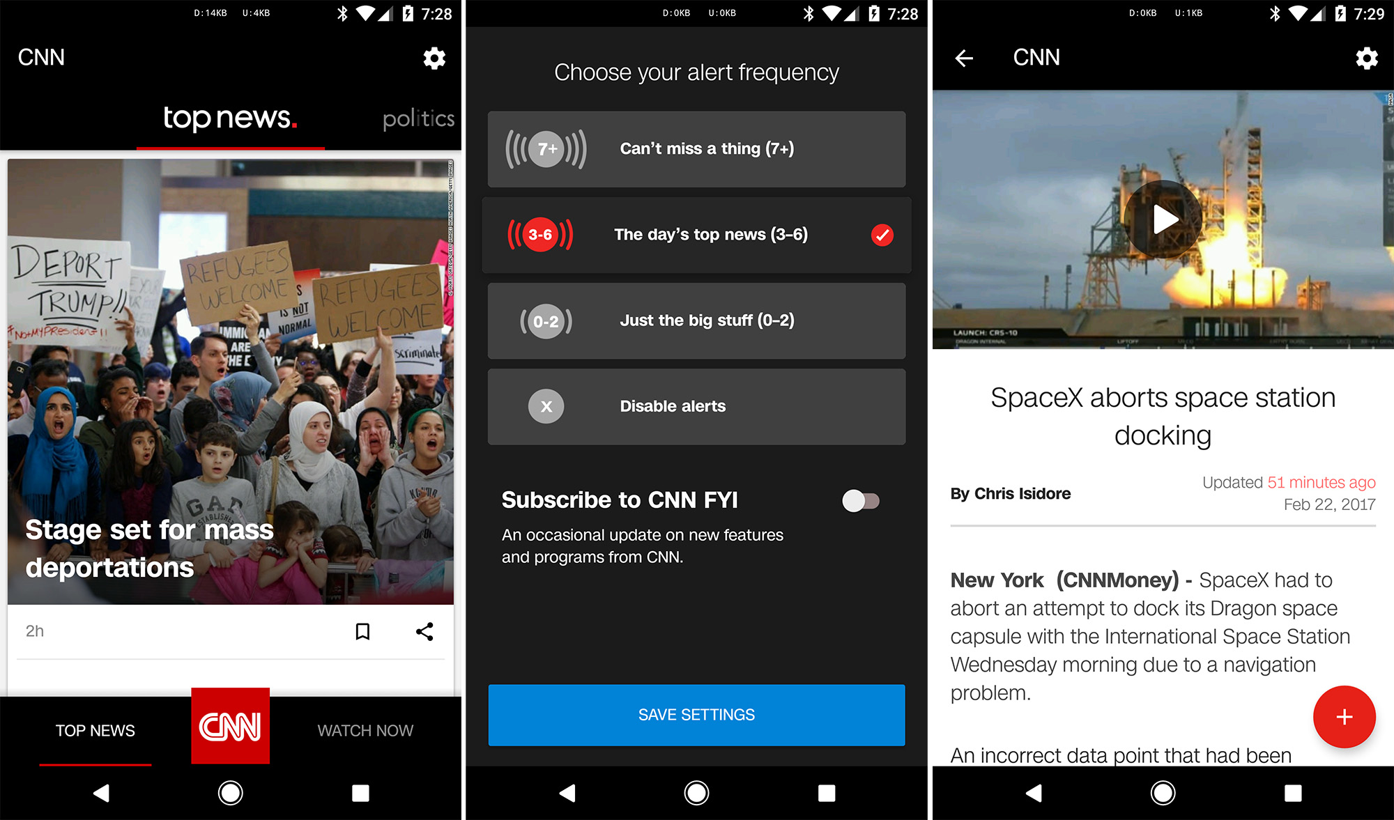 The Cnn Has Been On Android For Many Years At This Point And It S Gone Through Several Redesigns Not All Of Them Have Welcomed By Users