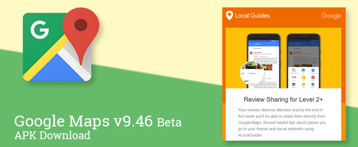 Google Maps v9.46 beta adds review sharing, tweaks ... on download business maps, download icons, online maps, download london tube map, topographic maps, download bing maps,