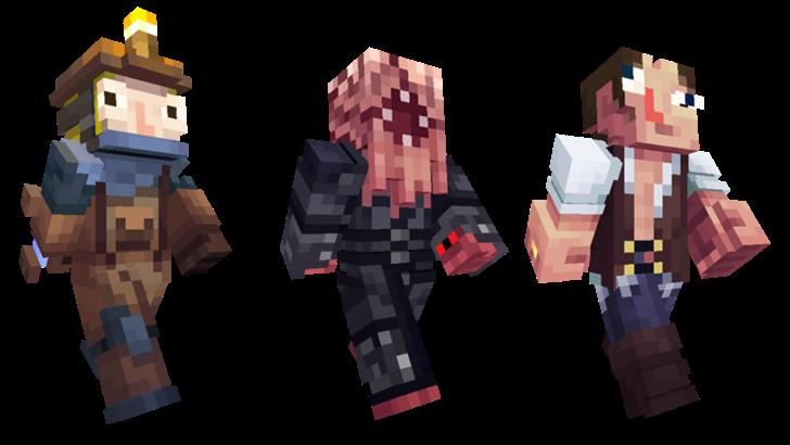 Minecraft Pocket Edition Adds New Strangers Skins Villager Trading - Villager skin fur minecraft pe