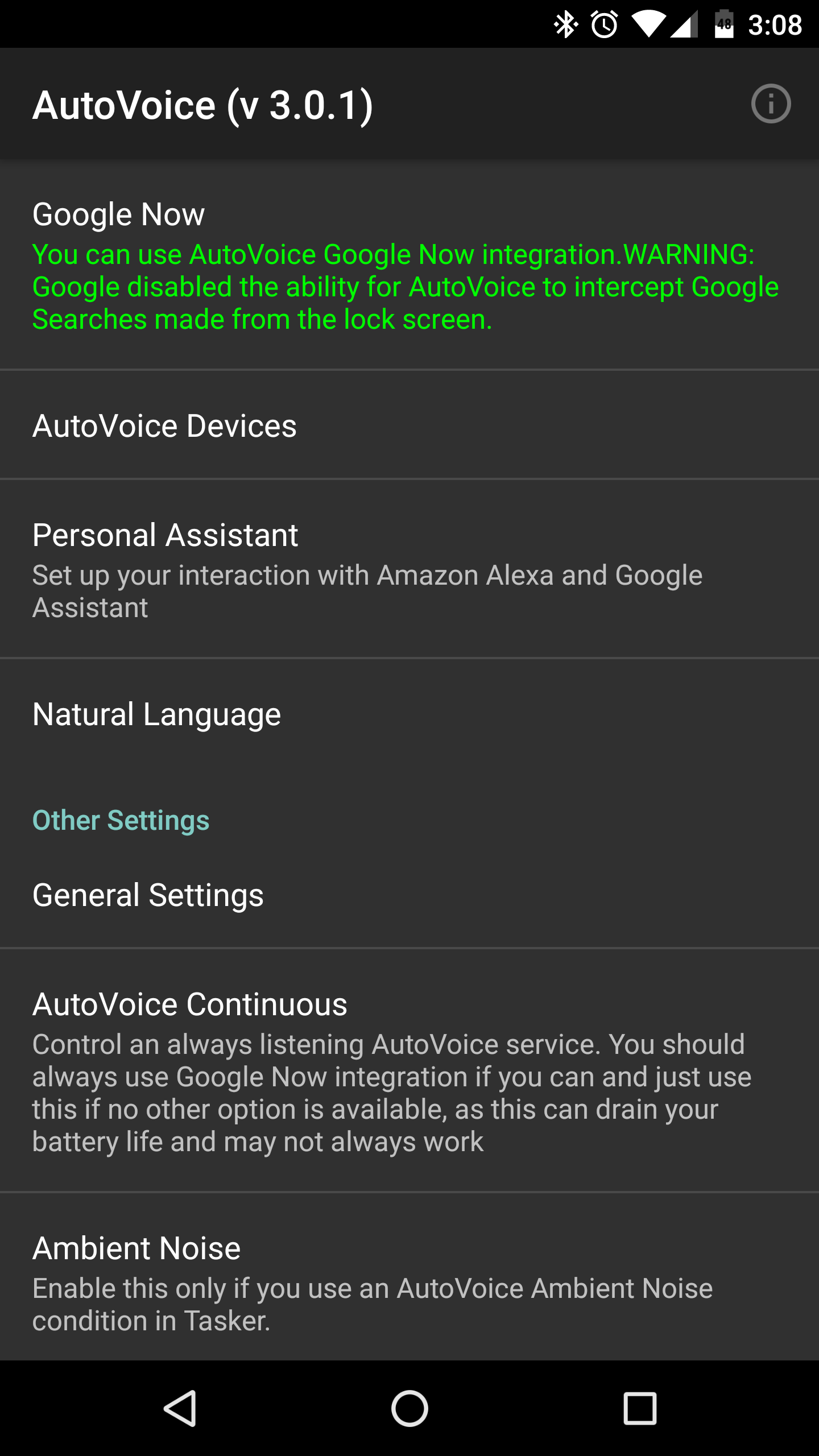 google home how to turn on autovoice