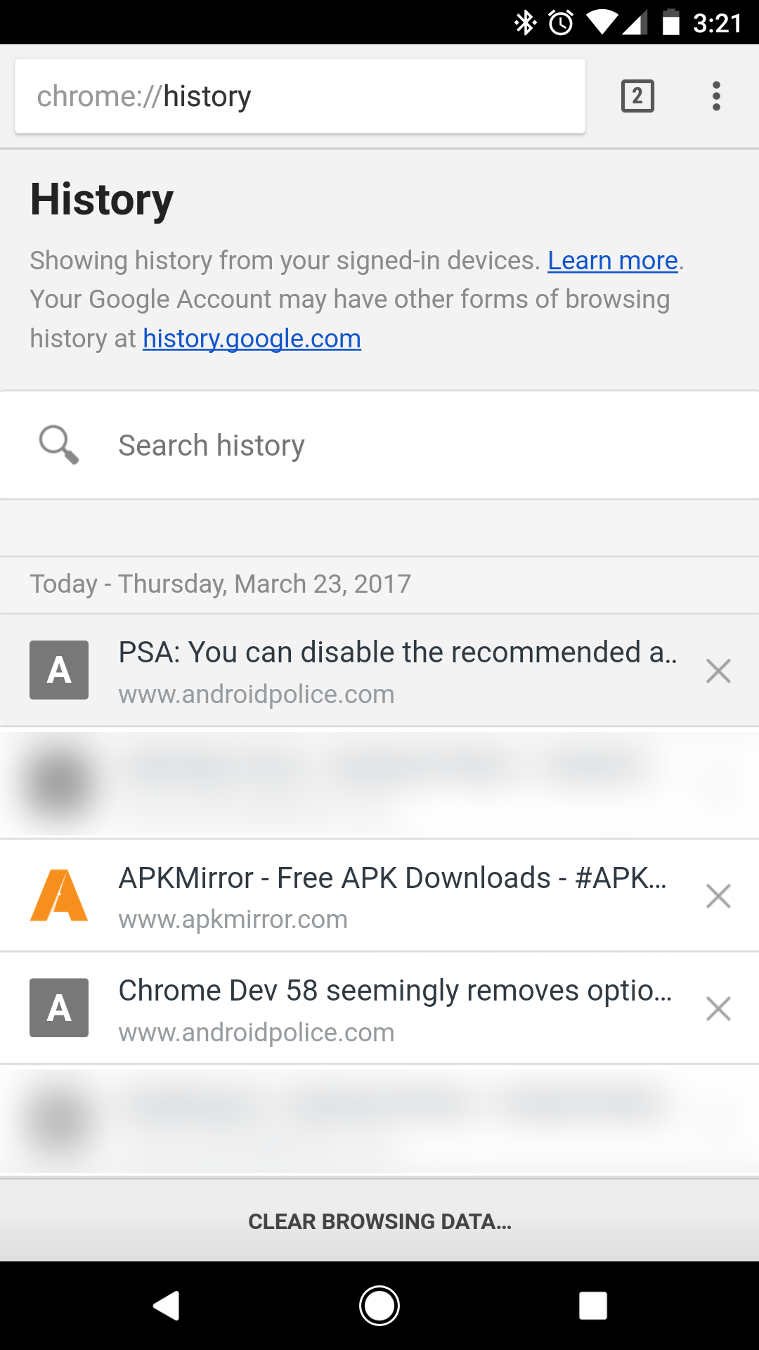Search History Before Google's New Delete A Facebook How To Delete But  In The Meantime, Chrome 58 Has A Few Minor Changes To The Interface For