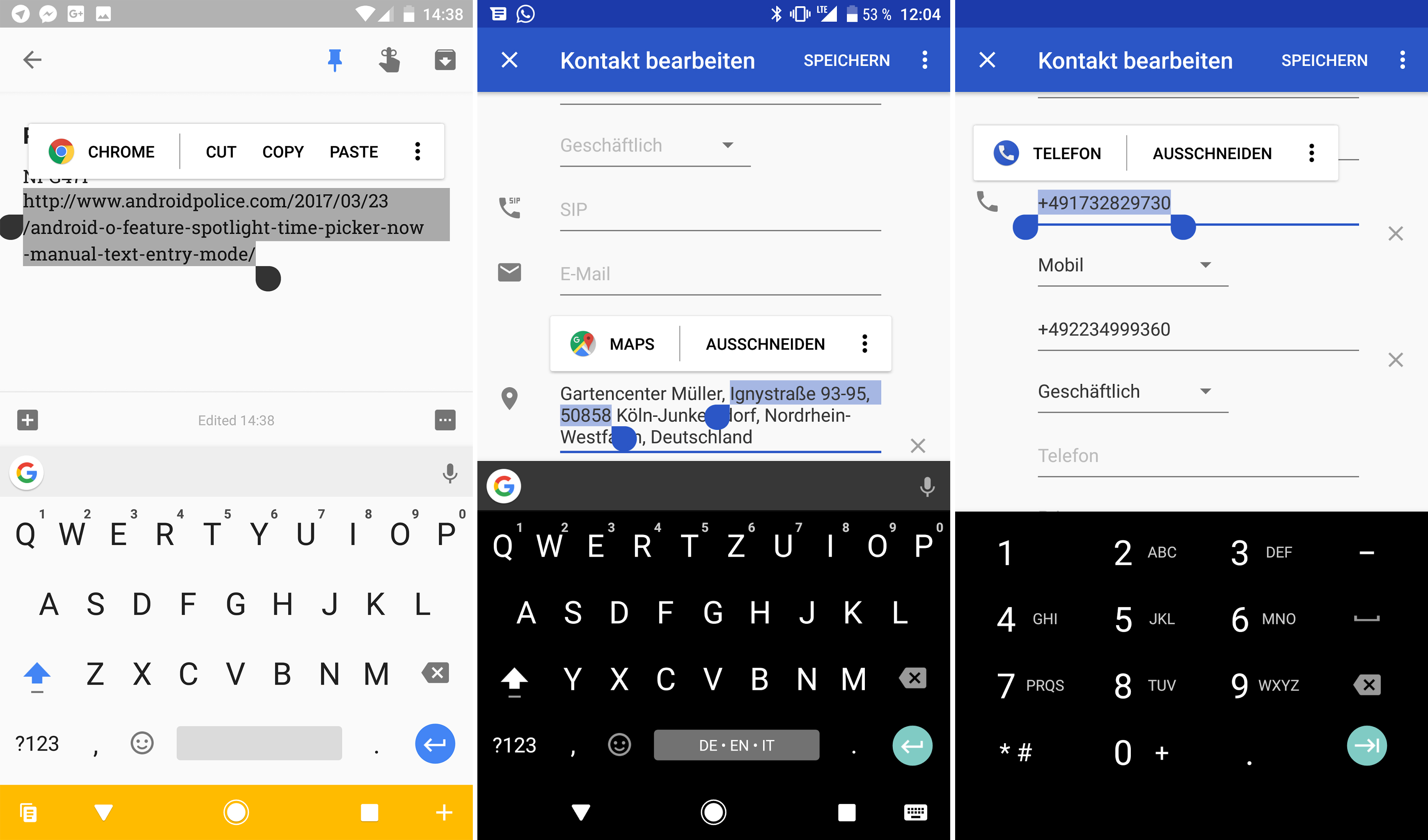 Android O Feature Spotlight Text Selection Dialog Now Has Icons And