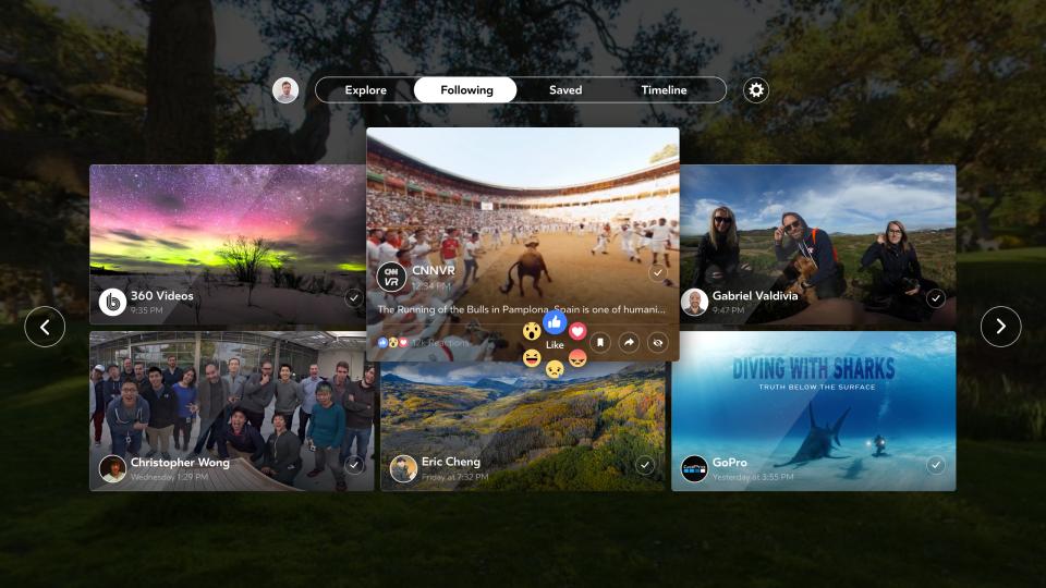 Facebook 360 Debuts On Samsung Gear VR