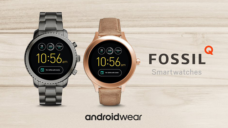 Fossil Announces Q Venture and Q Explorist Android Wear Watches, Coming Fall 2017