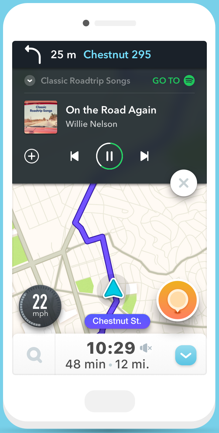Waze and Spotify partner up to bring your music and directions
