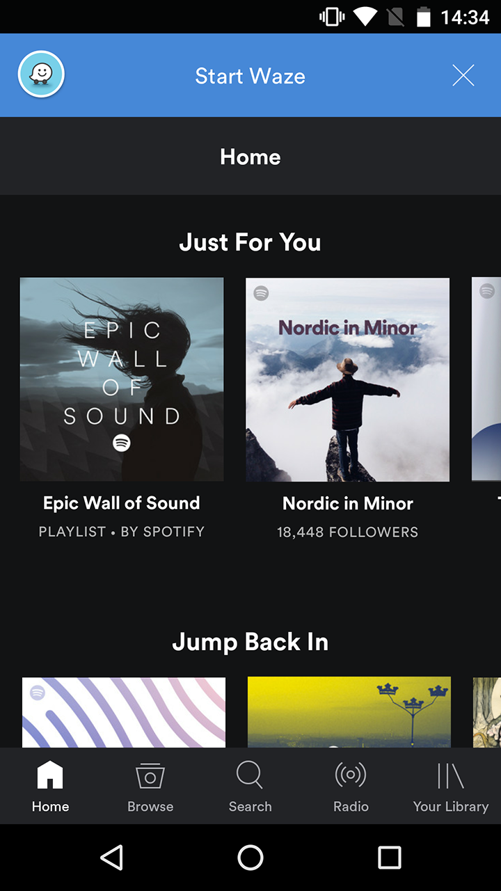 Waze and Spotify partner up to bring your music and