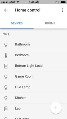 You Can Now Control your Wink-connected Thermostats and Lighting Products from Google Home