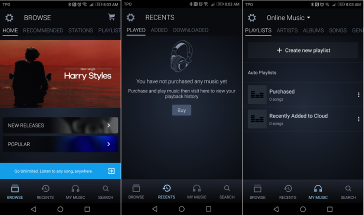 Amazon Music switches to a bottom navigation bar in the ...