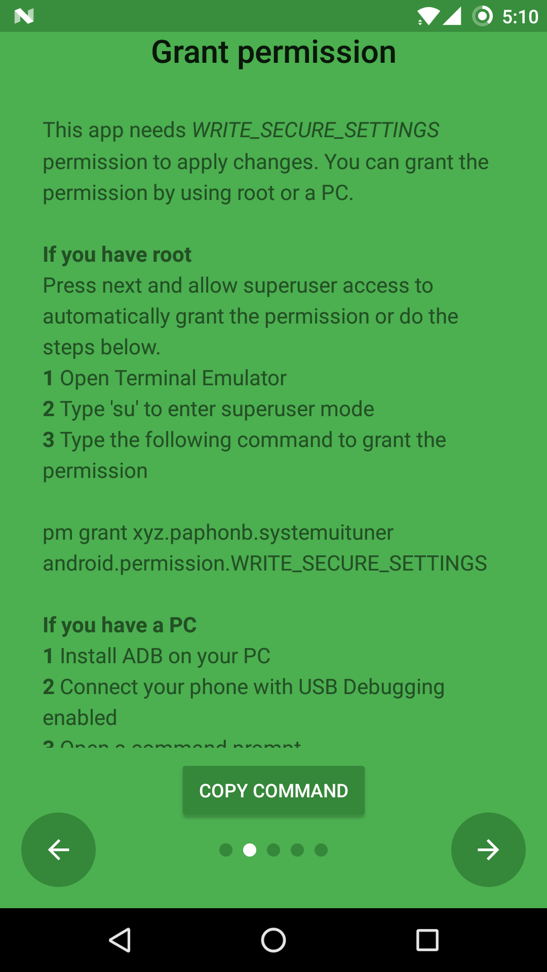 Adb Grant Permission
