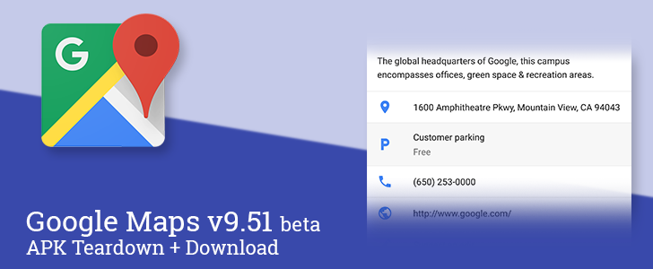 Google Maps v9.51 beta adds new details about parking, prepares to on