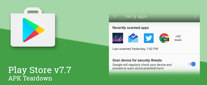 Play Store v7 7 prepares to roll out new security features