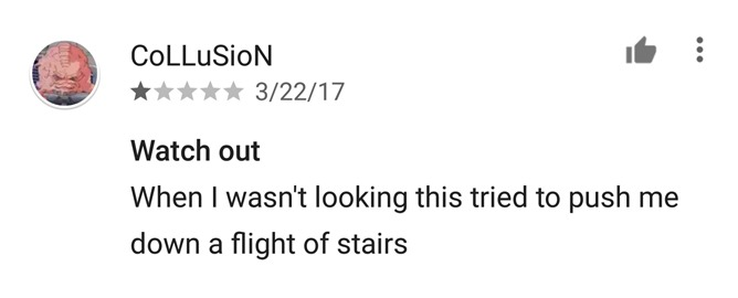 push down stairs