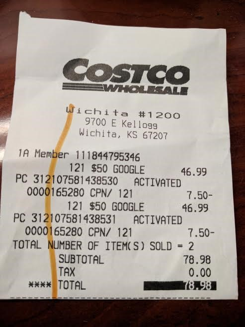 [Deal Alert] Costco is offering $50 Google Play gift cards ...