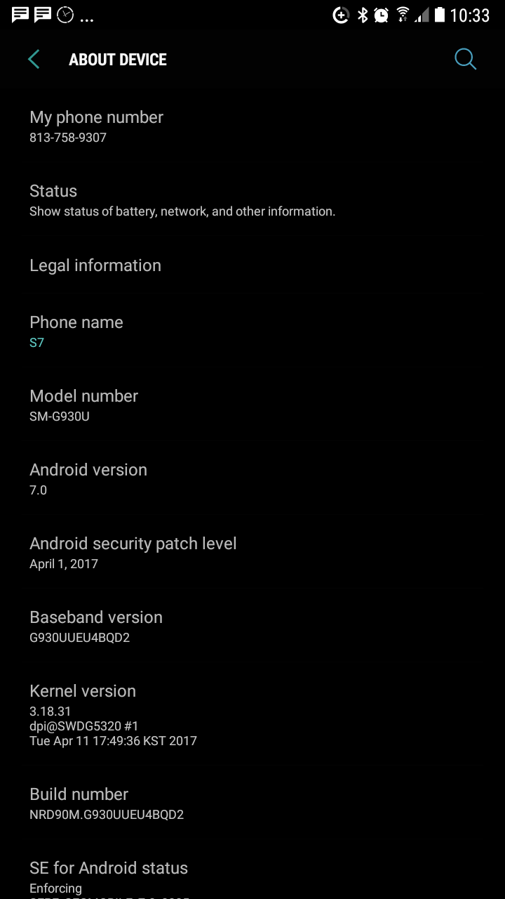 Update: US Galaxy S7 G930U, too] Samsung making Android 7 0 Nougat