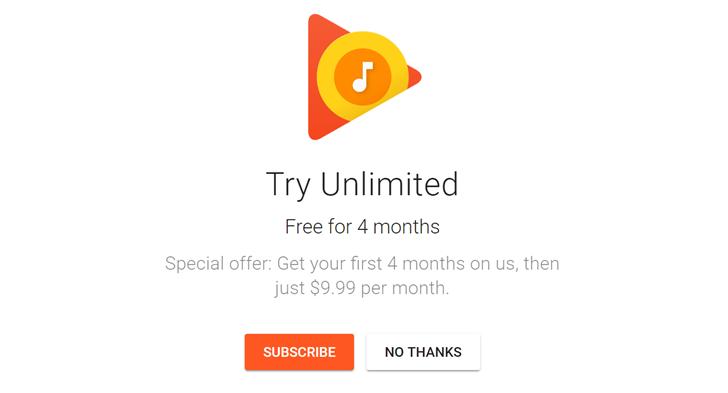 4 free months google play music hero
