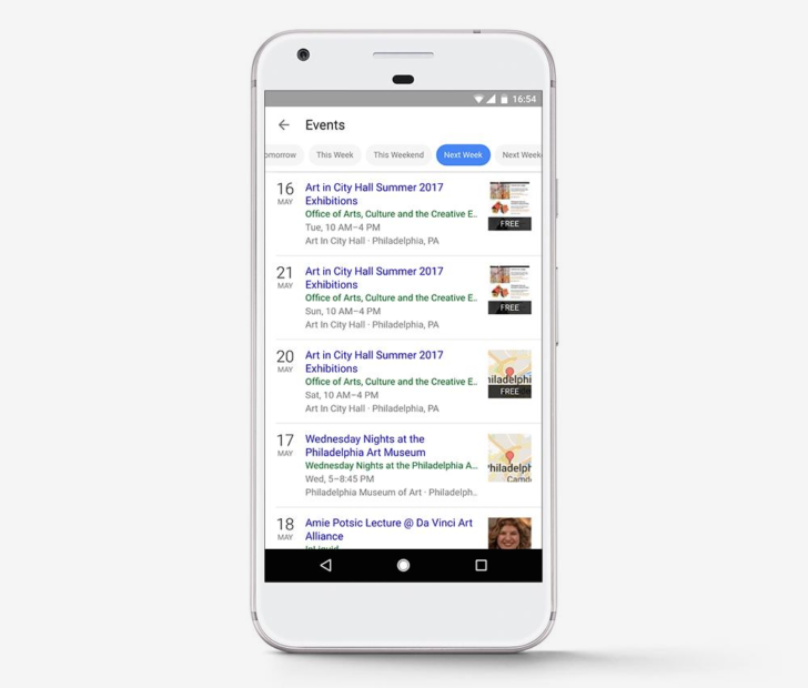 Google redesigns event recommendations in mobile search