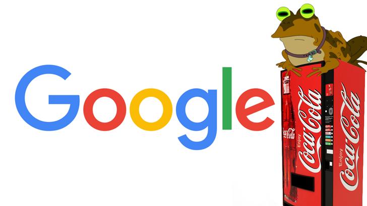 Google Coca cola backup hero