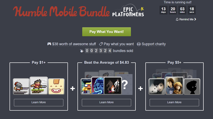 Humble Epic platformers bundle hero
