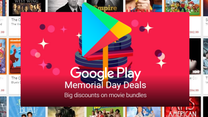 Memorial day deal Google Play hero