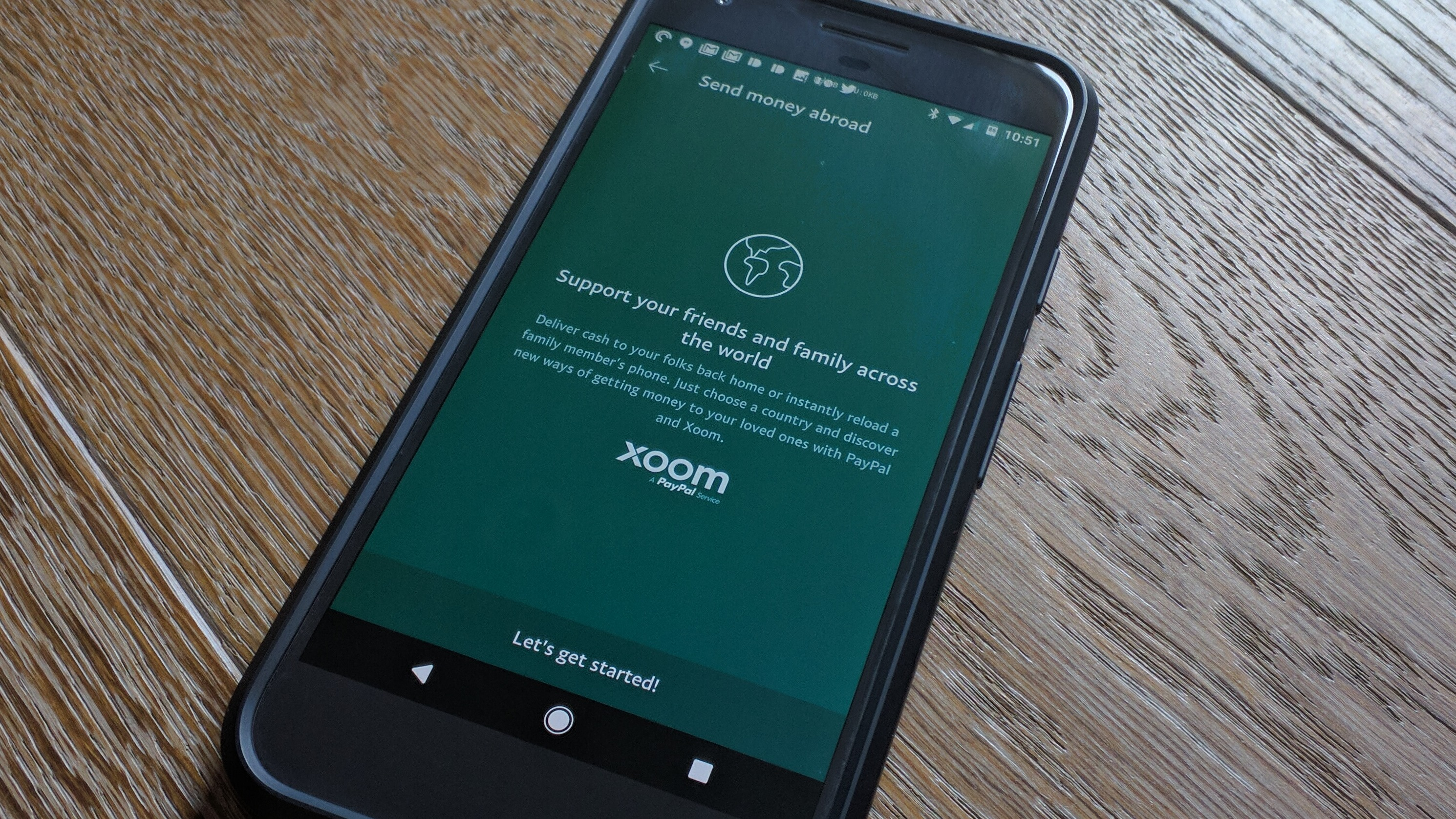 PayPal Android app updated with Xoom money sending features for 62