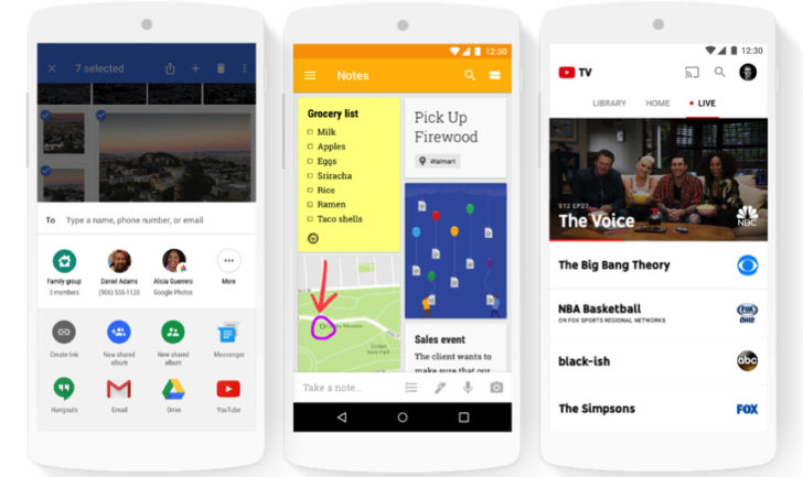 Google enables easy family sharing for Calendar, Keep, Photos
