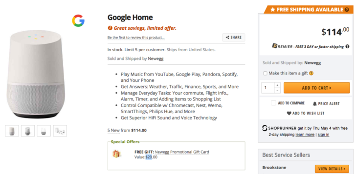 Deal Alert] Google Home is $15 off at Newegg with additional $20 ...