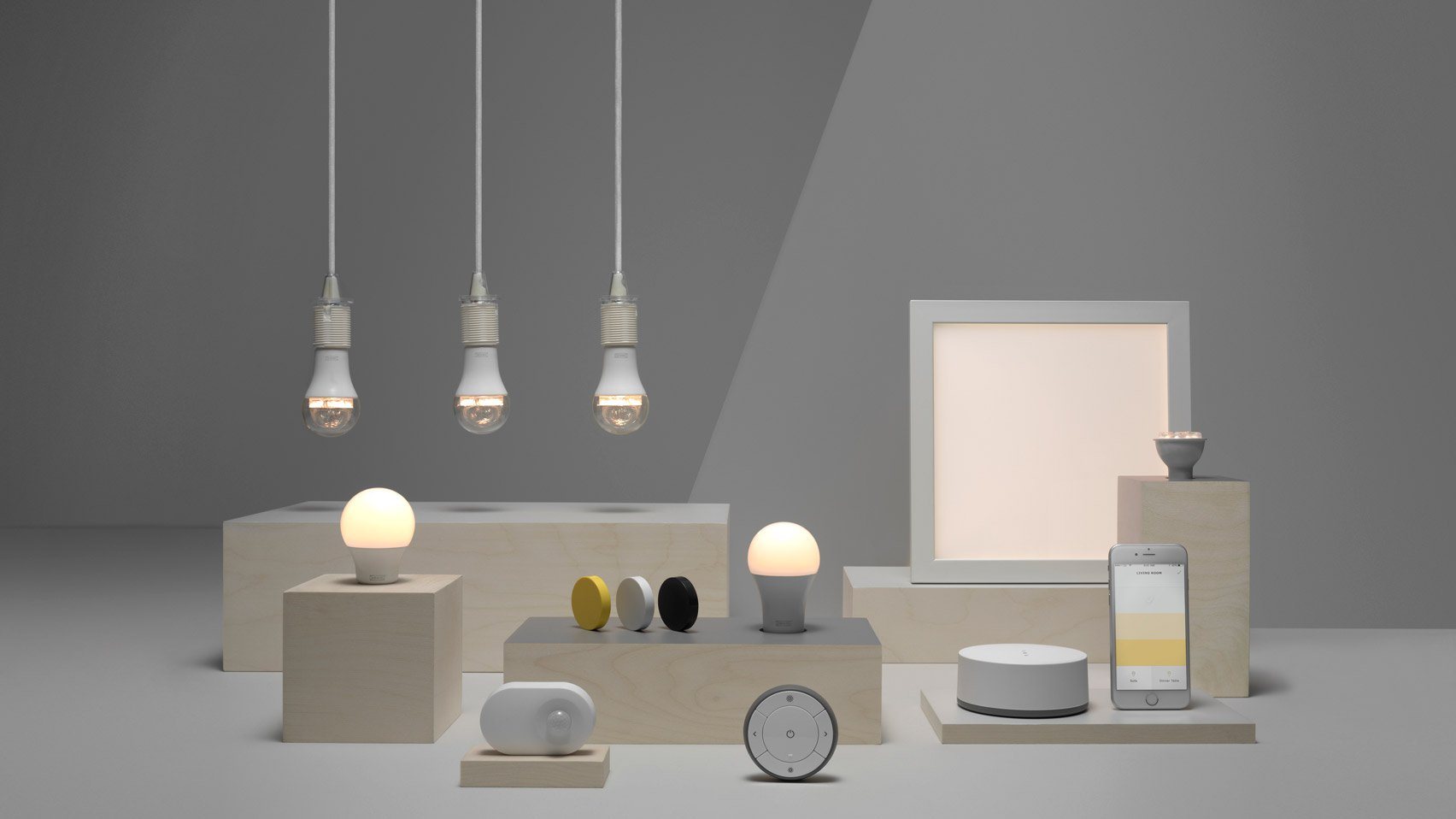 ikea tr dfri smart lights will get support for assistant and alexa later this year. Black Bedroom Furniture Sets. Home Design Ideas
