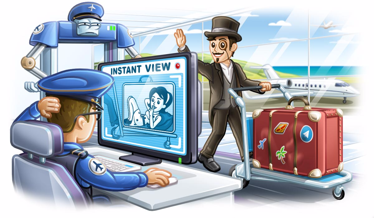 Telegram 4 0 brings the full launch of the Instant View