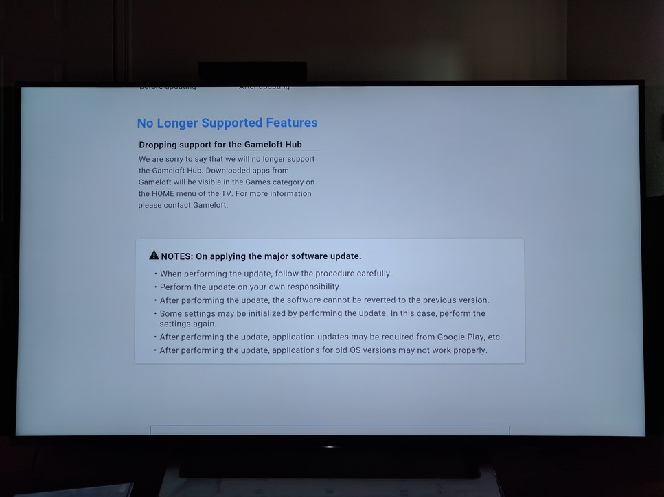 sony android tv update 7.0