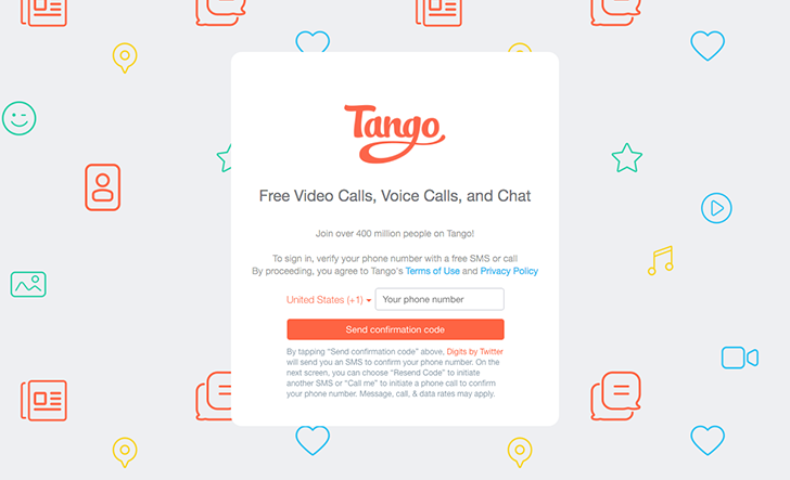 Tango, the chat app, releases its Web client