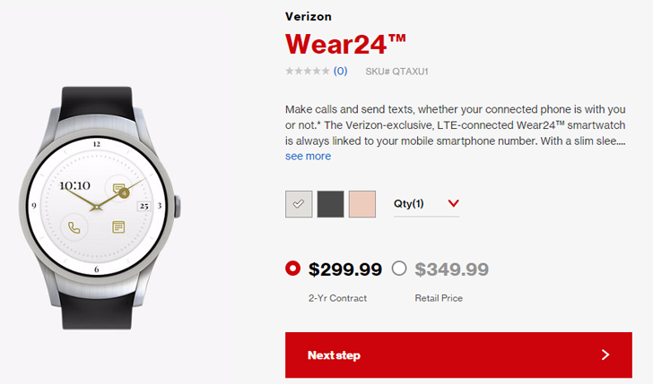 Verizon's Wear24 smartwatch goes on sale sans NFC