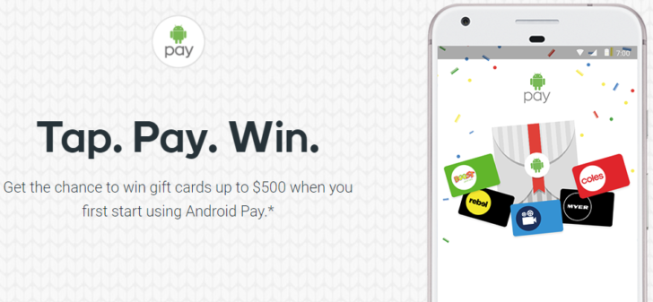 Android pay coupons