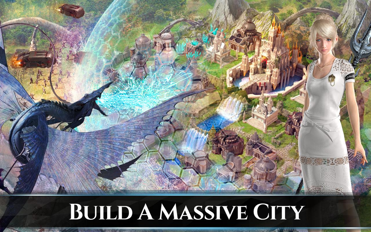 It Seems This Title Is Little More Than A Generic City Builder With  On The Rails Combat Dressed Up Like A Final Fantasy Title.