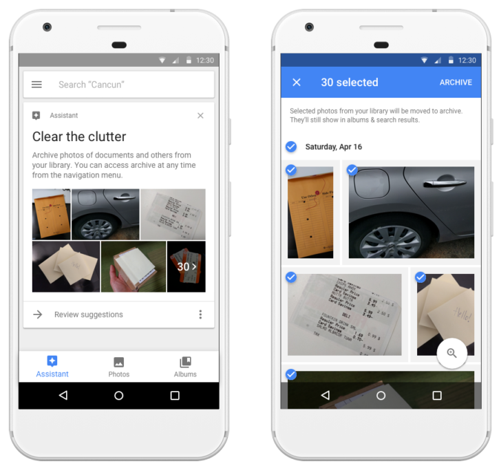 Google Photos can suggest photos for you to archive