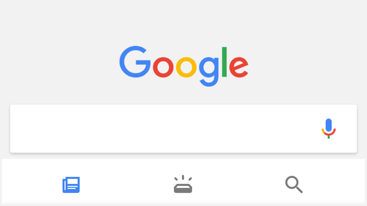 Google interface - android