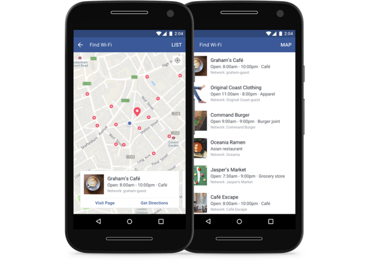 Facebook will help you to find free Wi-Fi throughout the world