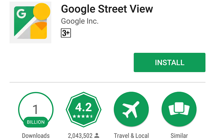 Google Street View Goes Round and Round, Reaches 1 Billion Installs on the Play Store
