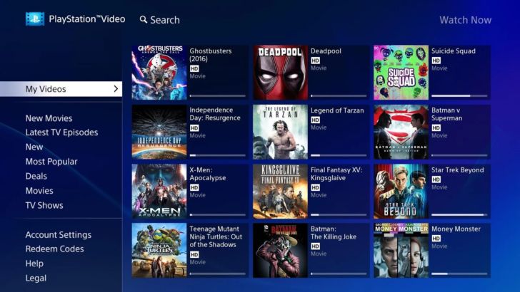 Sony releases the PlayStation Video for Android TV app to the Play Store