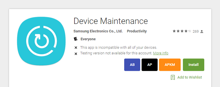 Samsung uploads its Device Maintenance tool to the Play Store