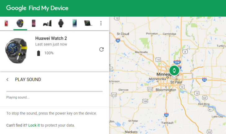 Reminder: You can find your Android Wear watch from your ...