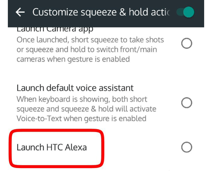 HTC U11 gets Alexa link through Edge Sense app update