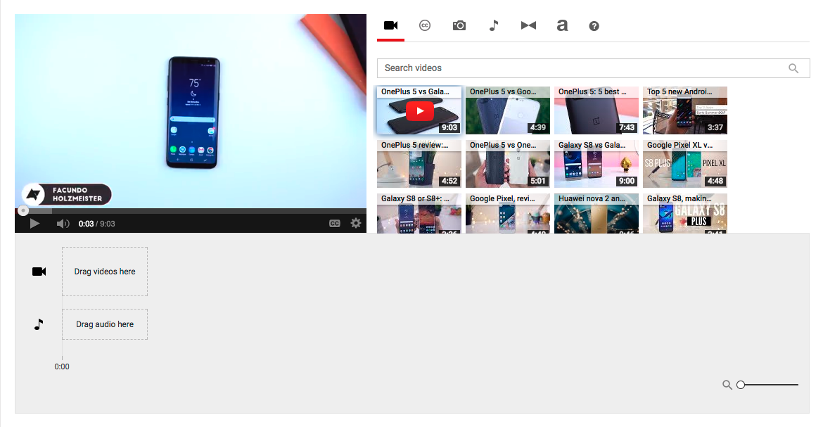 YouTube's Video Editor and photo slideshows are being