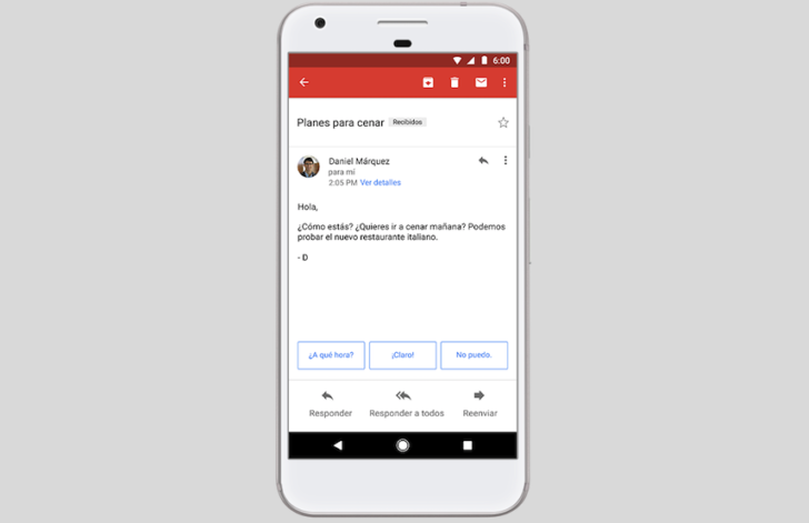 Gmail S Smart Reply Is Now Available In Spanish On Both