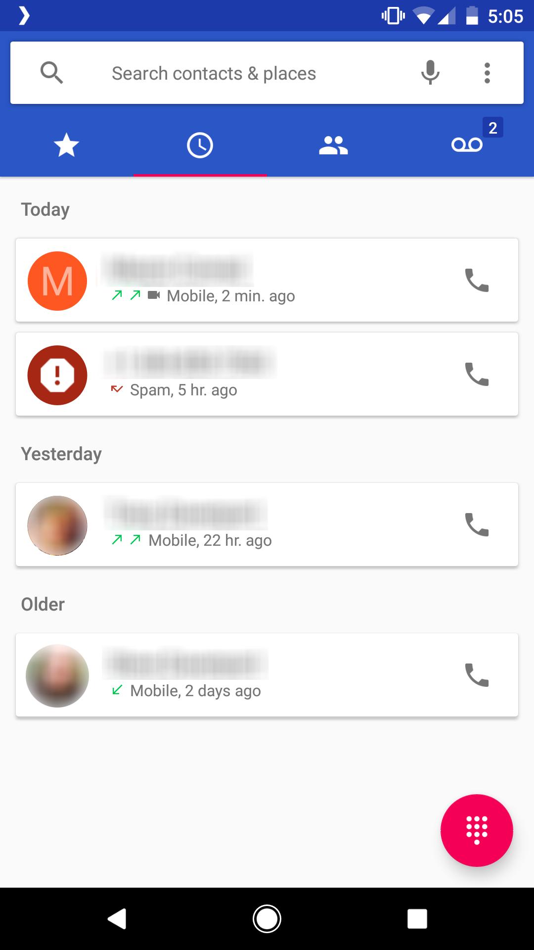 google duo call log