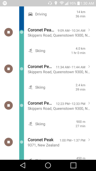 Google Maps' Timeline Feature Now Recognizes Skiing